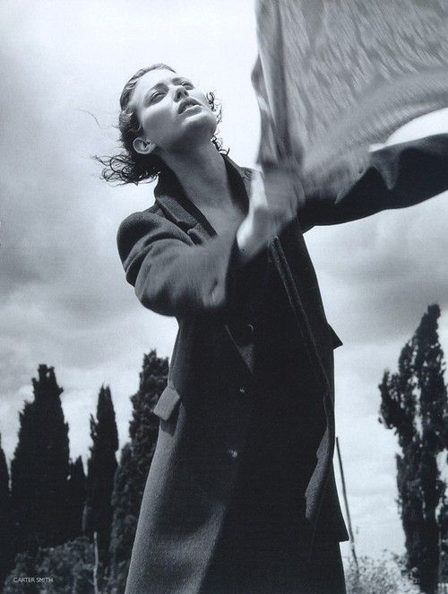 Shalom Harlow photographed by Carter Smith for Vogue UK, October 1997