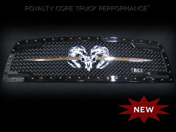 Ooooooh, like it ;) Dodge Ram 1500 2013+ RC2 Grille Twin Mesh w/ Speared Ram Sword Assembly | 2013+