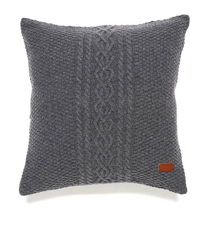 Gant Fisherman Knit Kissenbezug 50 x 50 cm dunkelgrau