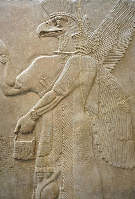 Assyrian Relief Panel at New York Metropolitan Museum of Art    flickr.com