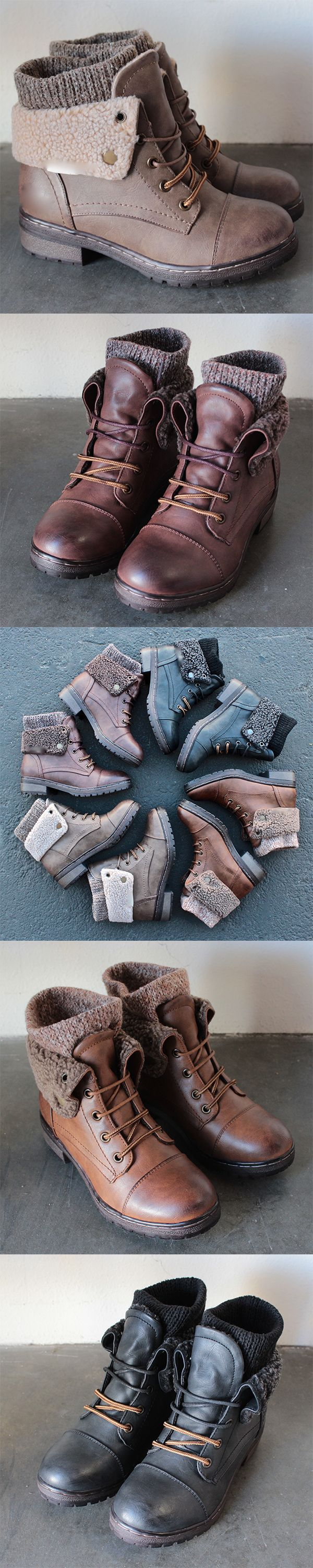 Amazing booties at an amazing price! Check out newest addition of adorable sweater ankle boots at http://www.shophearts.com: