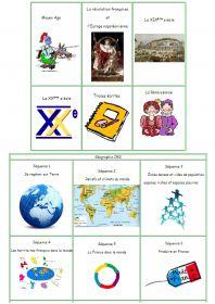 La classe de Stéphany : de nombreuses ressources (lectures, exercices, leçons et documents) pour aborder l'histoire et la géographie avec des classes de CE2 - CM1 - CM2.