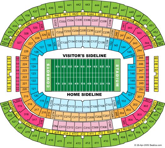 Dallas Cowboys Stadium Seating Chart Dallas Cowboys Stadium Tickets Seating Chart For Dallas Cowboys