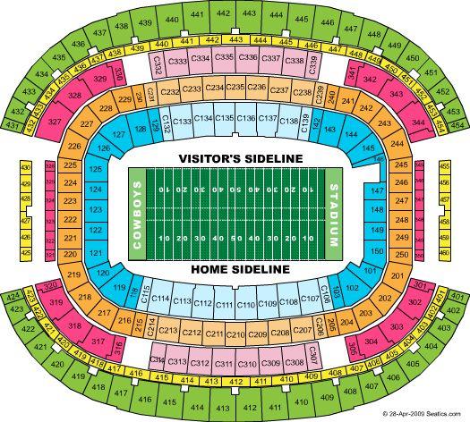 Dallas Cowboys Stadium Seating Chart Dallas Cowboys Stadium Tickets Seating Chart For Dallas Cowboys