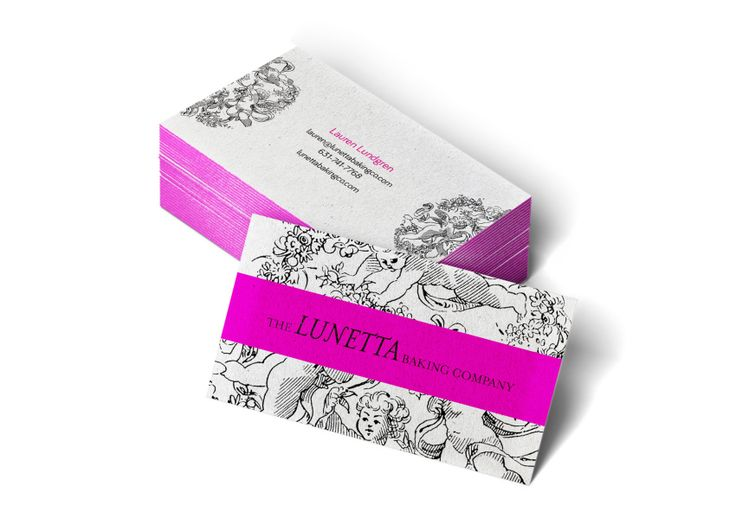 Business Card Design for New York producer of fine baked goods, The Lunetta Baking Company. Designed by Another Colour. anothercolour.com.au