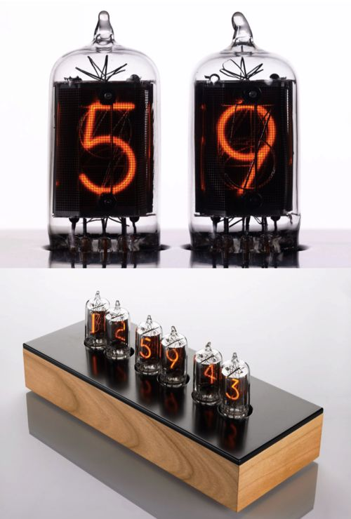 Ultra precise and gorgeously elegant, the Nixie clock. A real joy to look at.  http://www.ramseyelectronics.com/b/6313932011#clocks  VIDEO HERE: https://www.youtube.com/watch?v=KfXKG7uYy-I