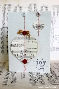 Homemade Christmas Cards - print off carol music?