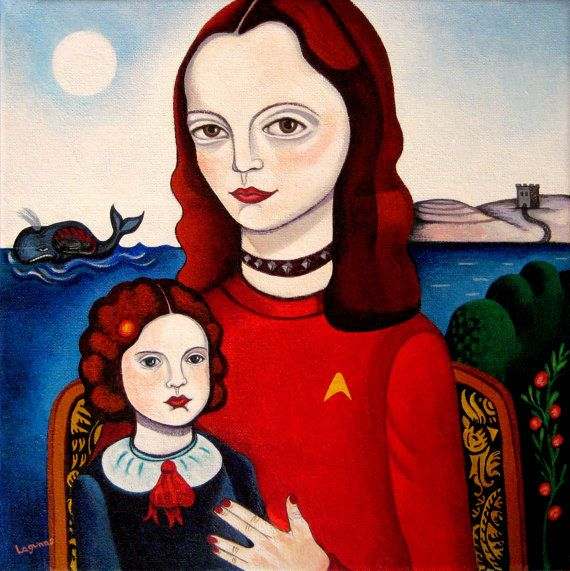 Family and the Whale. Mercedes Lagunas