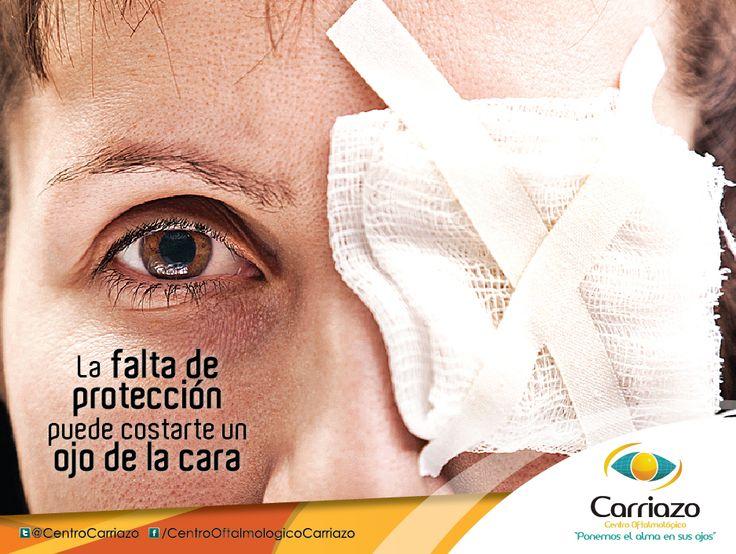 CUIDA TUS OJOS La mayor parte de los accidentes oculares pueden evitarse, utilizando protecciones personales seleccionadas según sea el riesgo de lesión a que está expuesto el trabajador.  Conoce algunas aquí http://carriazocentrooftalmolgico.blogspot.com/2013/07/proteccion-ocular-en-el-trabajo.html  Centro Oftalmológico Carriazo twitter: @cristian carriazo Centro Oftalmológico www.carriazo.com  #accidentesoculares #oftalmologia #oftalmologo #saludocupacional