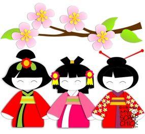 Japanese Flower Girls: click to enlarge