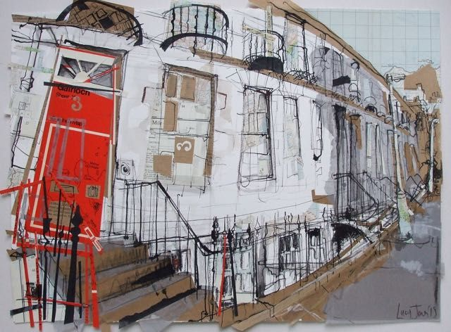 Malta Terrace, Stockbridge Collage with Ink, 2015 (53 x 39cm) A local commission made for a Christmas present, which I'm assured was very happily received. The old Scottish Ordnance Survey map that I...