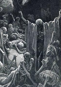Vision of the Valley of Dry Bones by Gustave Dore