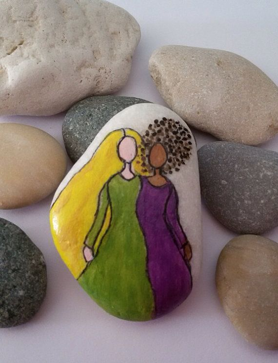 Painted Rock Friends Forever painted Pebbles Painted by JollyCards