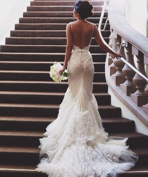 gorgeous no back wedding dress wedding bells