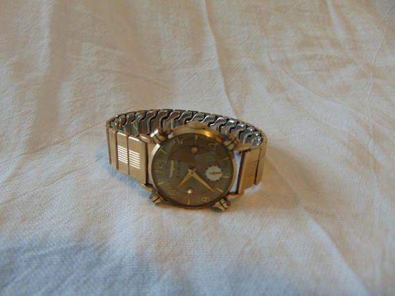 mens vintage elgin watch gold filled art deco works excellent