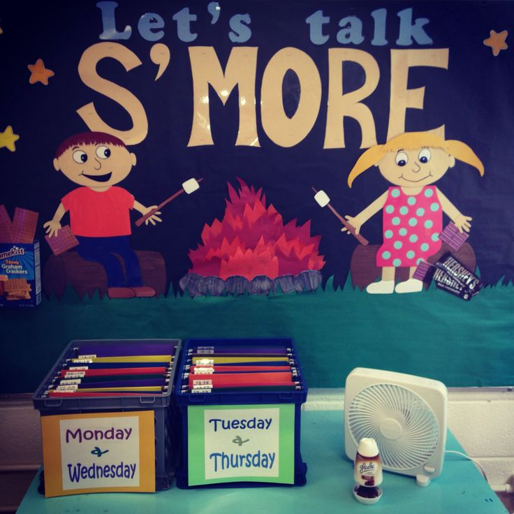 My Pinterest inspired Speech bulletin board  #Let'sTalkS'more