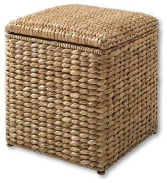 Seaforth Natural Ottoman tropical ottomans and cubes  $99 with storage xx