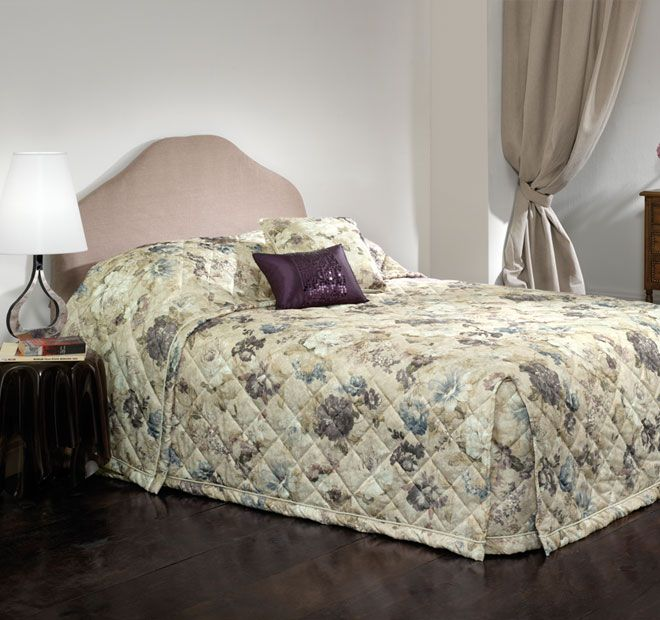 Rochelle Multi - Polyester and cotton front, Polyester fill, Polyester reverse, Wash separately before use, Wash dark colours separately, Cold gentle machine wash inside out, Line dry inside out, Do not tumble dry, Warm iron on reverse if desired, Do not wring, bleach or dry clean - #bedspreads