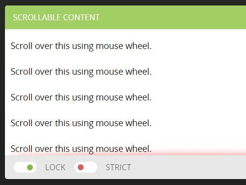 scrollLock is a jQuery plugin that disables document body from mouse wheel scrolling when you reach the bottom / top of a specified scrollable element.