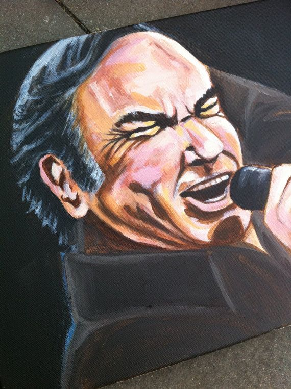 Handpainted canvas artwork NEIL DIAMOND Interpretation wallart etsy portrait art