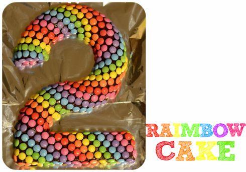gateau anniversaire 2 deux ans raibow cake simple facile et rapide gateau smarties gateau au yaourt revisité en forme de chiffre (10)