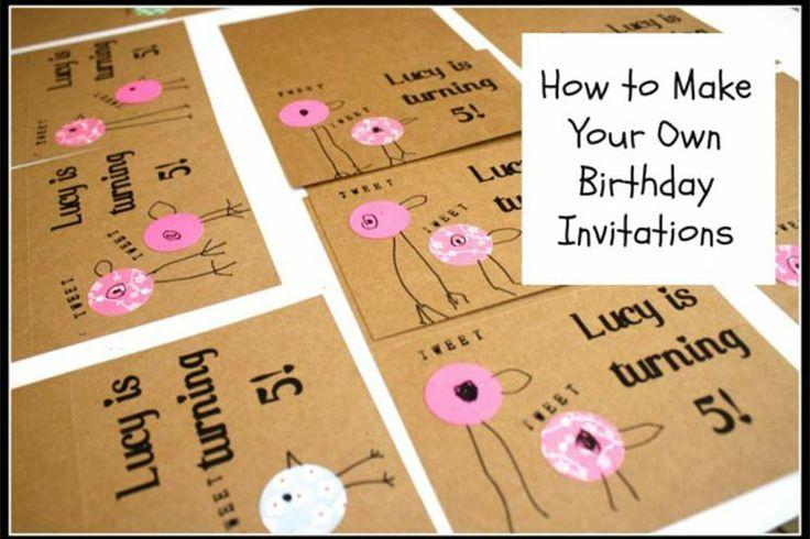 Unique kids party invitations