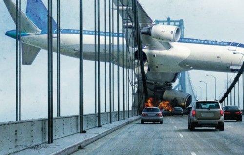 Horrific Crash on a bridge!