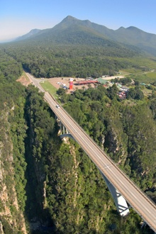 Storms River - Eastern Cape view of the old bridge and truckstop...