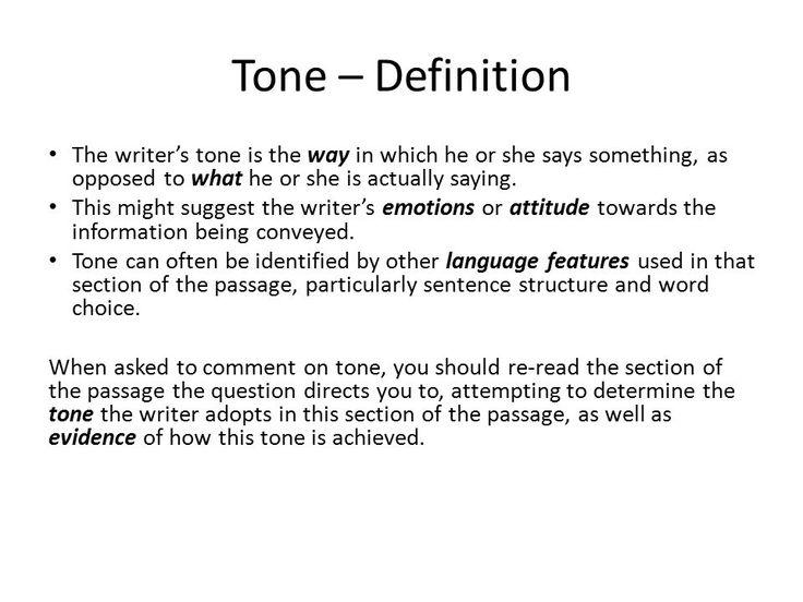 Unit 4 Writer's tone