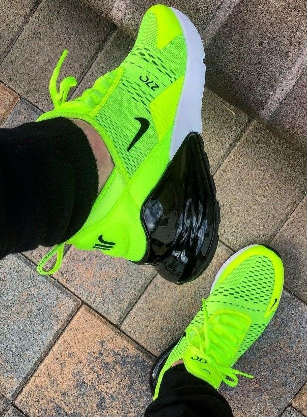 Neon green Nike shoes</p>                     					</div>                     <!--bof Product URL -->                                         <!--eof Product URL -->                     <!--bof Quantity Discounts table -->                                         <!--eof Quantity Discounts table -->                 </div>                             </div>         </div>     </div>     