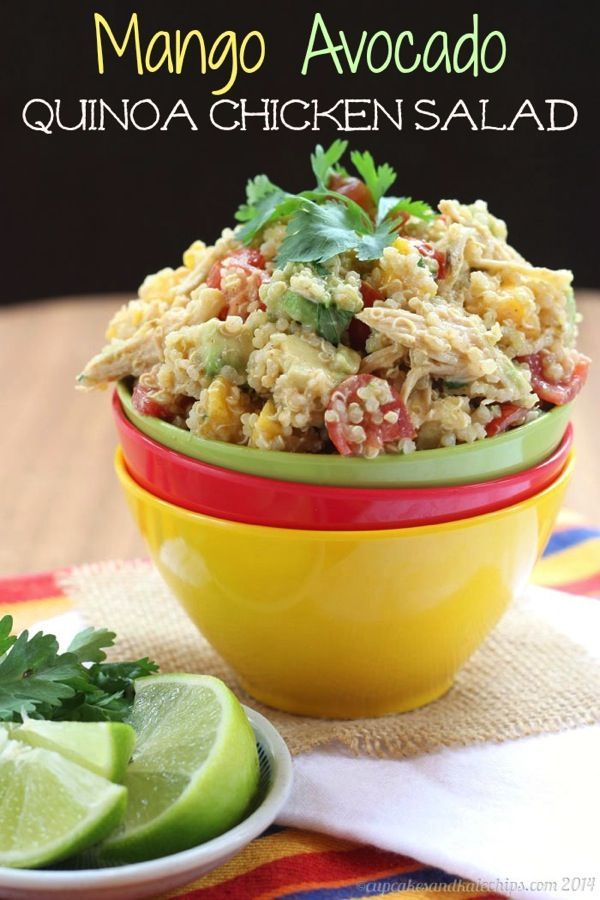Mango Avocado Quinoa Chicken Salad | Recipe | Pinterest | Gluten ...