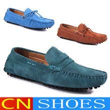 Hombres holgazanes auténticos Zapatos de conducción de cuero Gommini mocasines Lace up para Hombre Zapatos moda Casual Zapatos Hombre Sapatos Masculinos(China (Mainland))