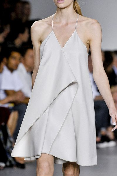 Chic dress with sculptural folds; runway fashion details // 3.1 Phillip Lim S/S 2012