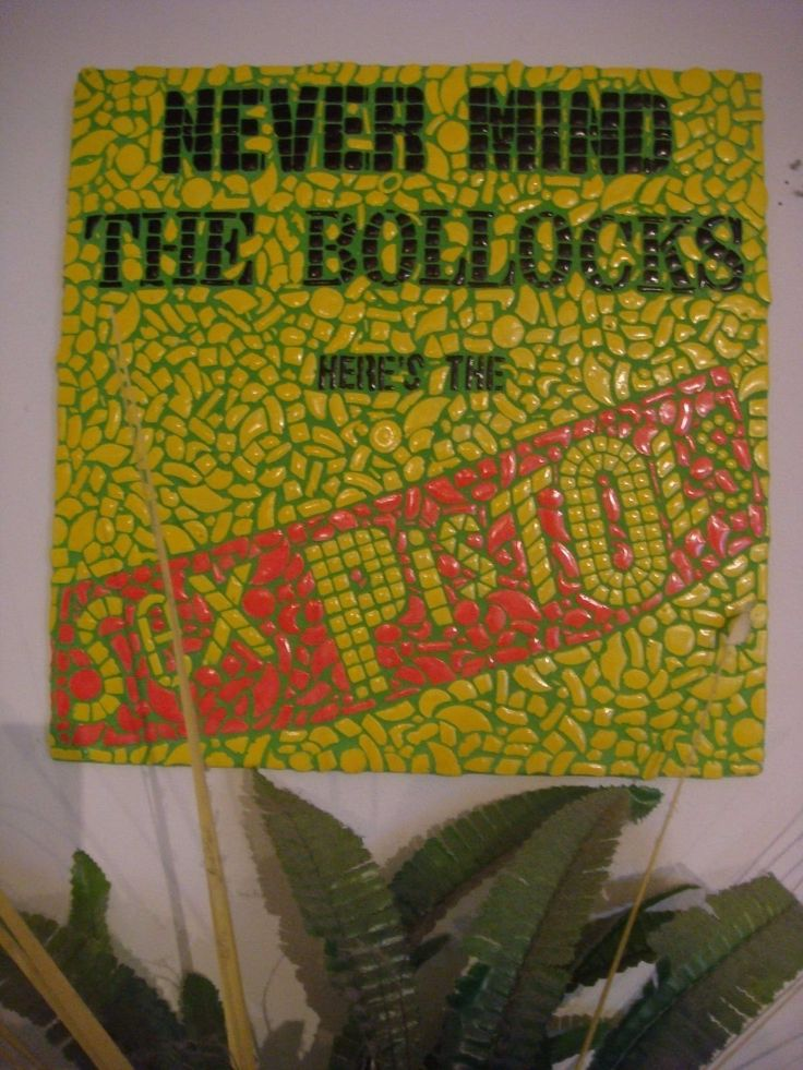 Sex Pistols Never Mind the Bollocks Mosaic picture album cover art green grout   eBay