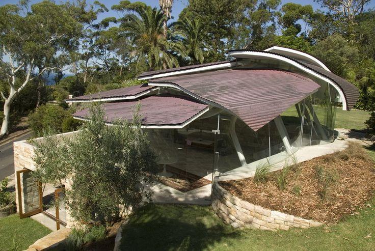 Дом листьев (Leaf House) в Австралии от Undercurrent Architects.