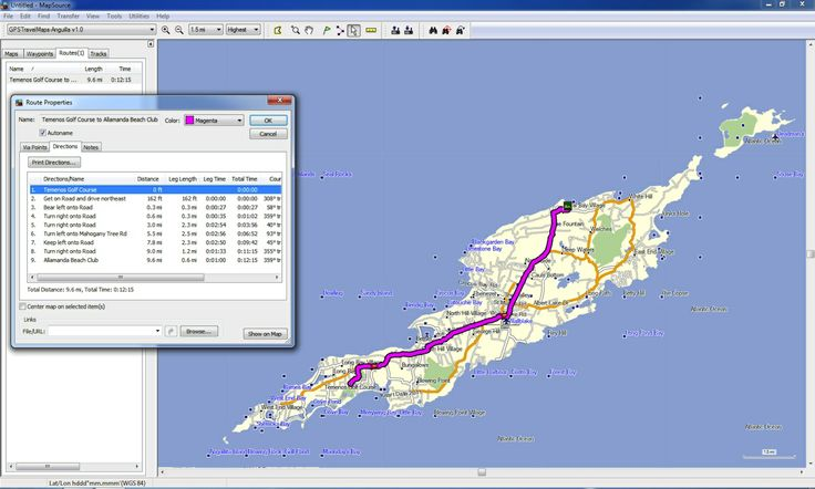 Accurate road navigation in Anguilla.  Compatible with all Garmin GPS devices.