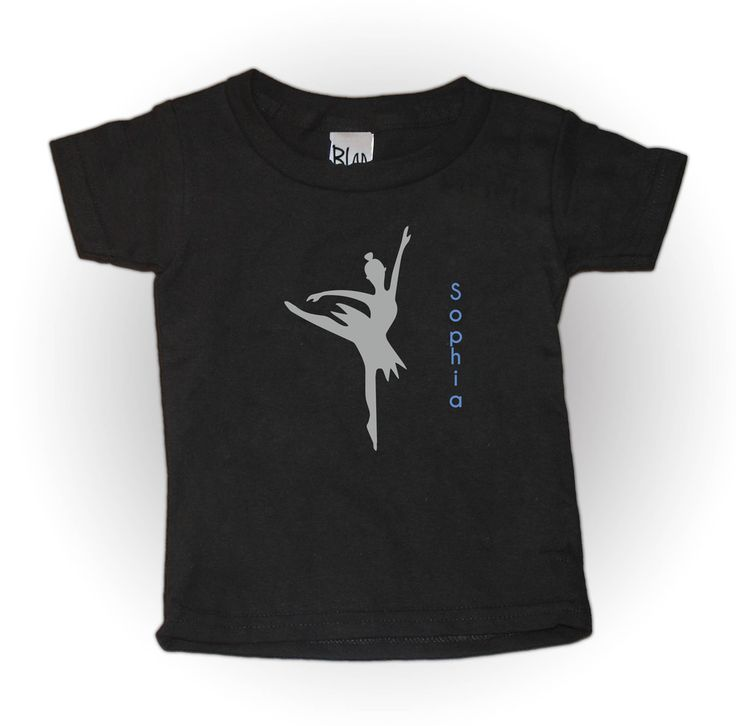 Dancing Ballerina kids T-shirt for the little dancer in your life.  Can be personalised with your little girls name as well.  Super cute kids outfit.