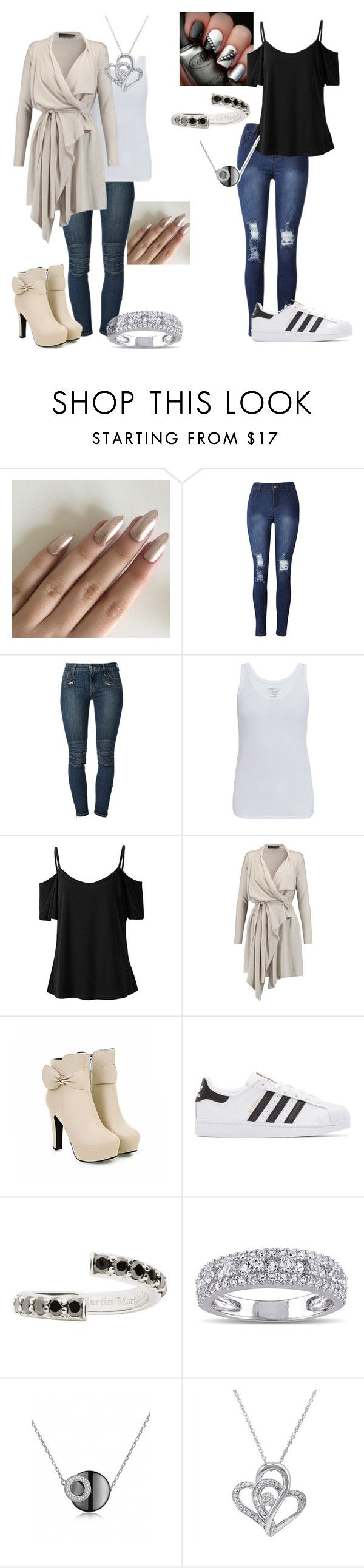 """Dressy/casual"" by dpclma ❤ liked on Polyvore featuring Koral, Majestic, Maria Grachvogel, adidas Originals, Maison Margiela, Miadora and Amanda Rose Collection"