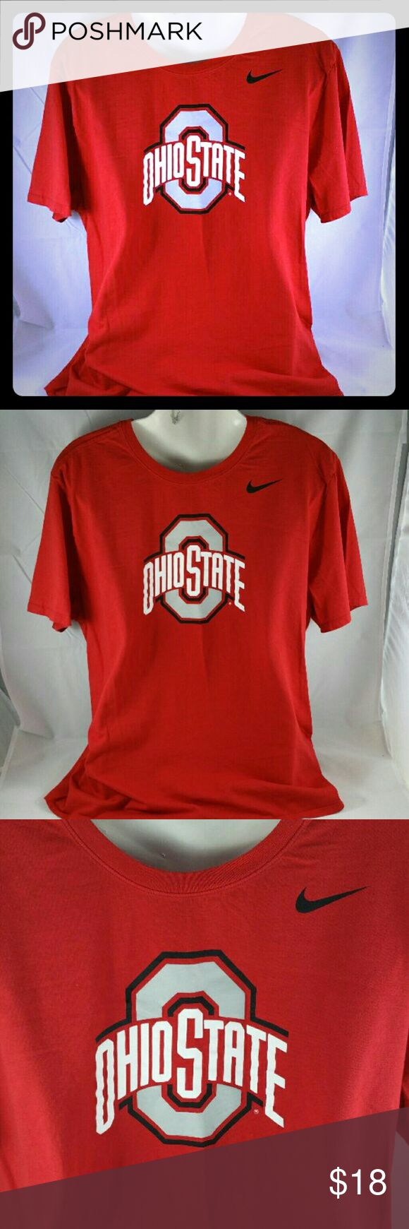 Ohio State Tee Ohio State short sleeve t-shirt  Size - XL Great condition = no flaws, fades, cracking, stains facebook.com/CombsConnection/shop Nike Shirts Tees - Short Sleeve