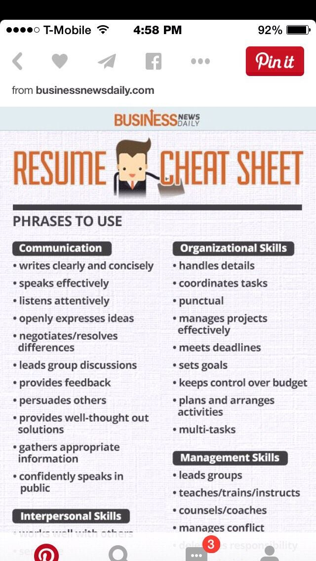 resume cheat sheets various trusper tip
