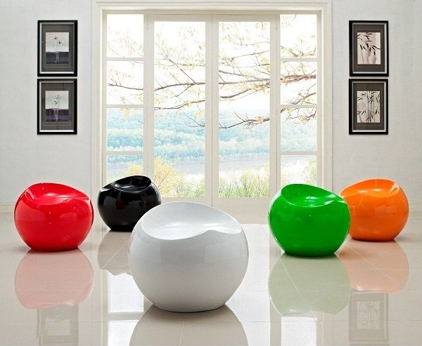 $110.00   LexMod Dewdrop Stool In Red, Modern Interior, Futuristic Chair,  Future Home