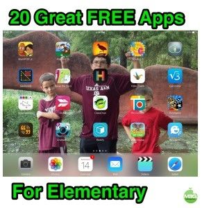 20 Great FREE Apps for Elementary Students. Invludes links and a presentation with a short intro to each app.