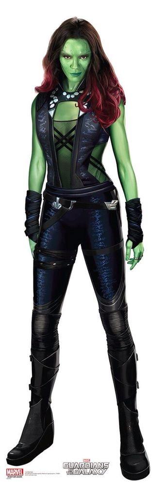 "Zoe Saldana as Gamora from""Gaurdians Of The Galaxy"""