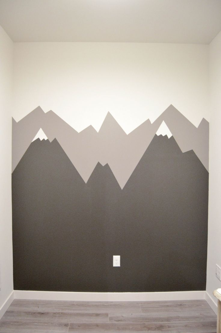 Déco Murale Diy How To Paint A Mountain Mural Nursery Kids Teens Room Wall Art