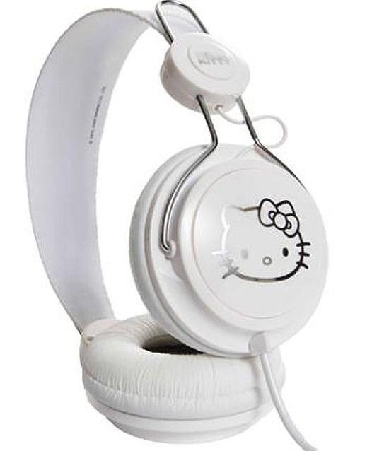 Audífono White de hello kitty