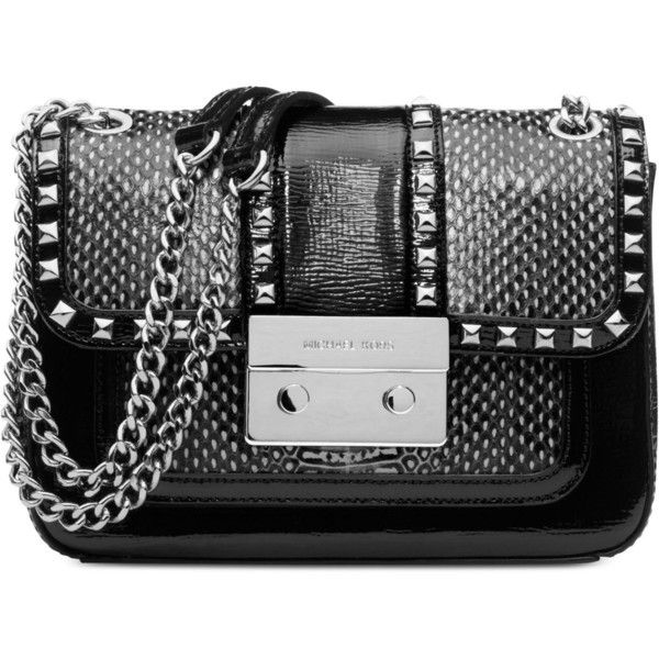 MICHAEL Michael Kors Handbag, Studded Sloan Shoulder Bag found on Polyvore