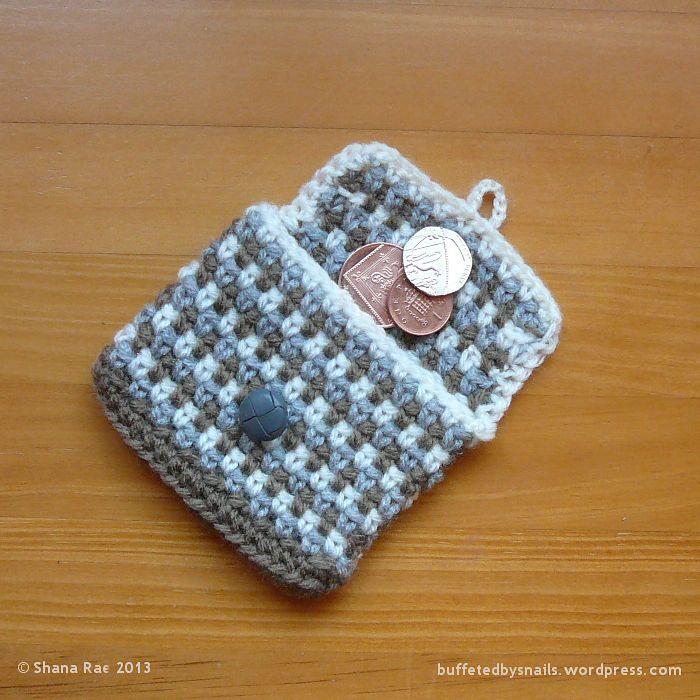 Rustic Coin Purse By Shana Rae - Free Crochet Pattern - (ravelry)* ༺✿ƬⱤღ https://www.pinterest.com/teretegui/✿༻