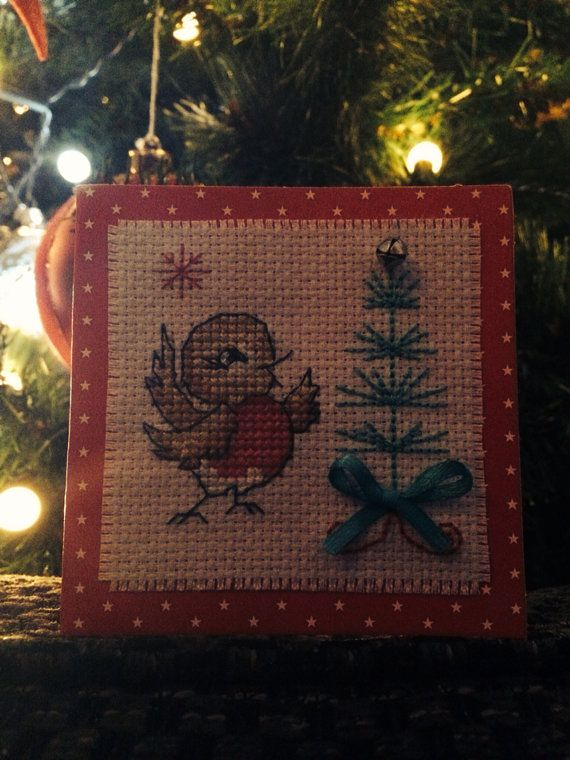 Rockin Robin Christmas card by lovewithcards on Etsy, £3.00