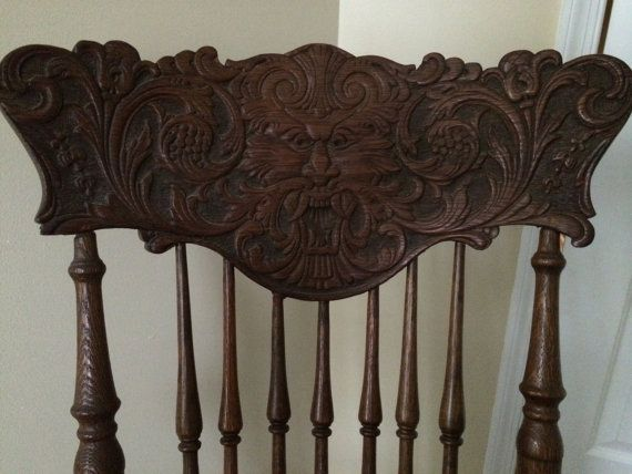 Early 20th Century Stomps-Burkhardt Rocking Chair by AutumnsMagic - 11 Best  North Wind Chairs - Antique Rocking Chair With Carved Face Antique Furniture