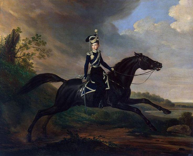 Equestrian Portrait of Grand Prince Alexander Nikolayevich